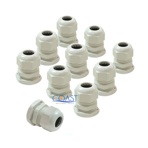 "10X Durable Waterproof UV Resistant White Nylon Connector Grommet 0.11""- 0.25"""