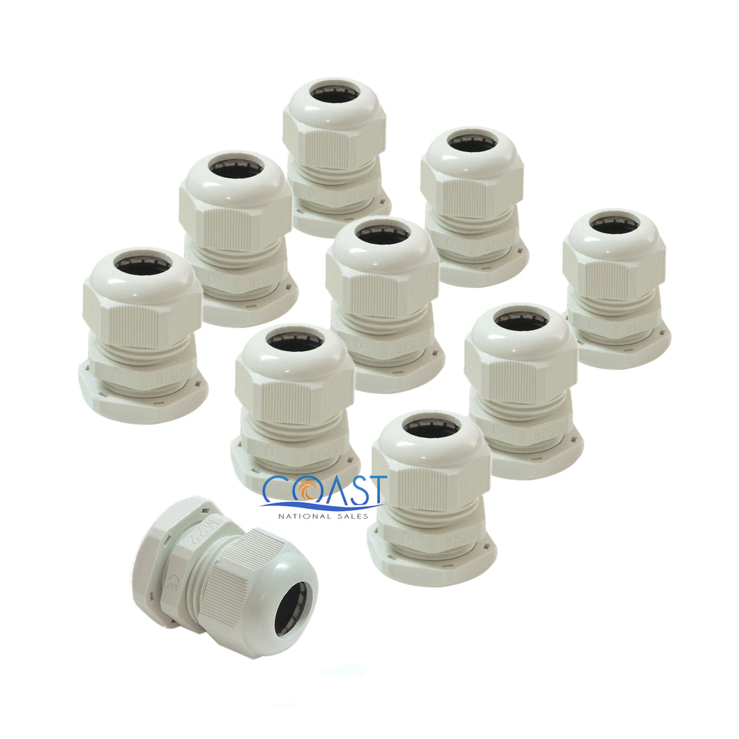 10X Stinger 1/0 Gauge Waterproof Resistant White Nylon Connector Grommet PG34