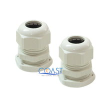 "Load image into Gallery viewer, 2X Durable Waterproof UV Resistant White Nylon Connector Grommet 0.19""- 0.39"""