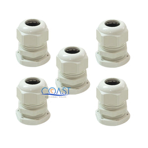 "5X Durable Waterproof UV Resistant White Nylon Connector Grommet 0.47""- 0.59"""