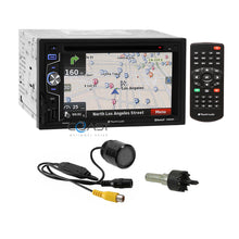 Load image into Gallery viewer, Planet Audio DVD GPS SD Playback Bluetooth Stereo Receiver + Rear View Camera