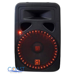 "Mr.Dj 15"" 3000W 2-Way LED Accent Bluetooth FM SD USB Portable Speaker PP3500LED"