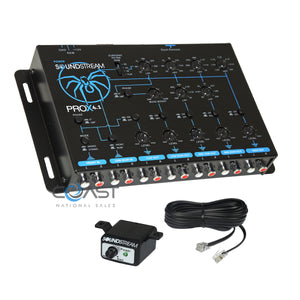 Soundstream 4-Way Full Range Electronic Crossover w/ Remote Level Control Knob