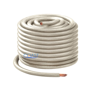 OFC Full Copper 1666 Strand Count 4 GA Platinum Power Ground Wire Cable - 40ft