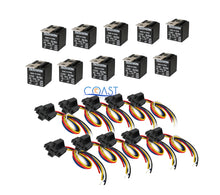 Load image into Gallery viewer, 10X Car Audio Bosche Style Relay with Wire Harness Socket RL3040 12V 30/40 AMP