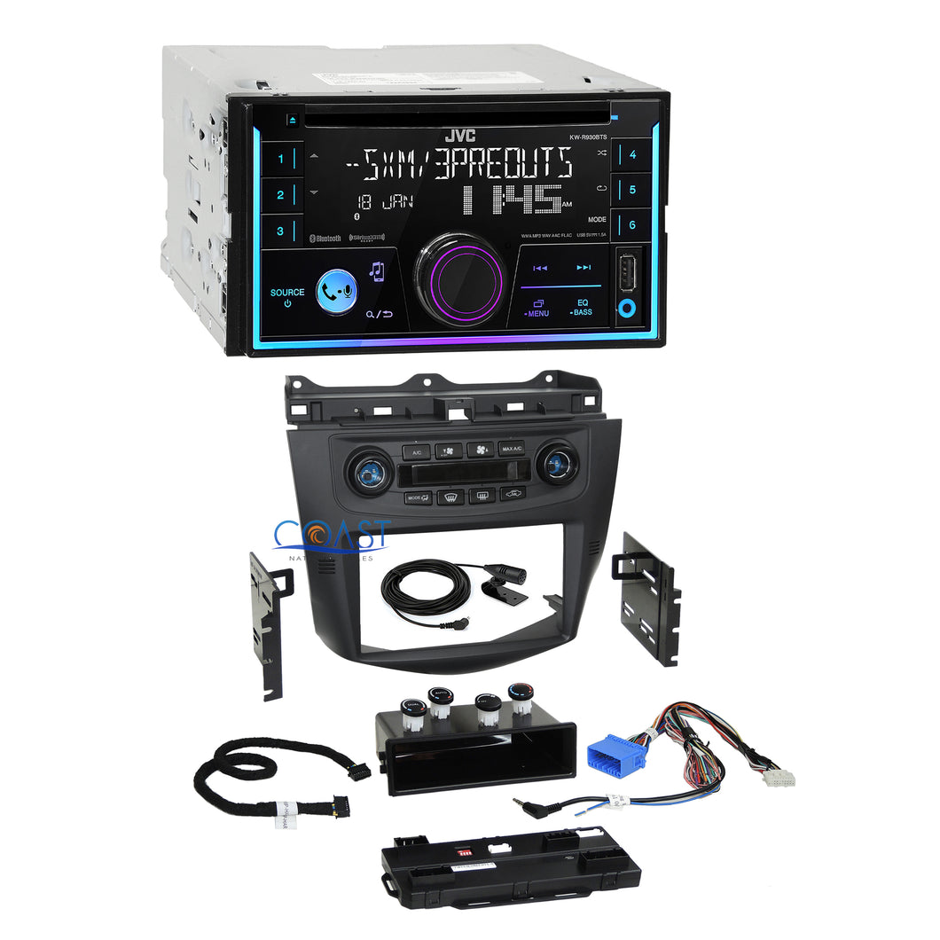 JVC 2018 CD USB Sirius Dash Kit Integrated Climate Control for 03+ Honda Accord