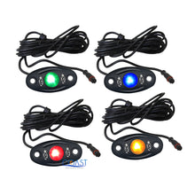 Load image into Gallery viewer, ColorSmart RGB Multi-Color LED Smartphone Control Box 4 pc Pod Rock Light Kit
