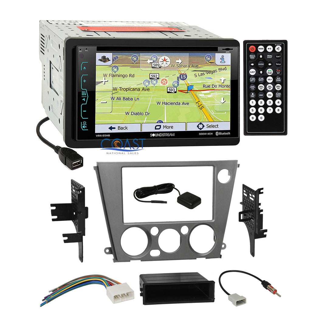 Soundstream GPS Bluetooth Stereo Dash Kit Harness for Subaru Legacy Outback