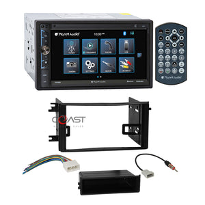 Planet Audio USB MirrorLink Bluetooth Stereo Dash Kit Harness for 09-14 Subaru