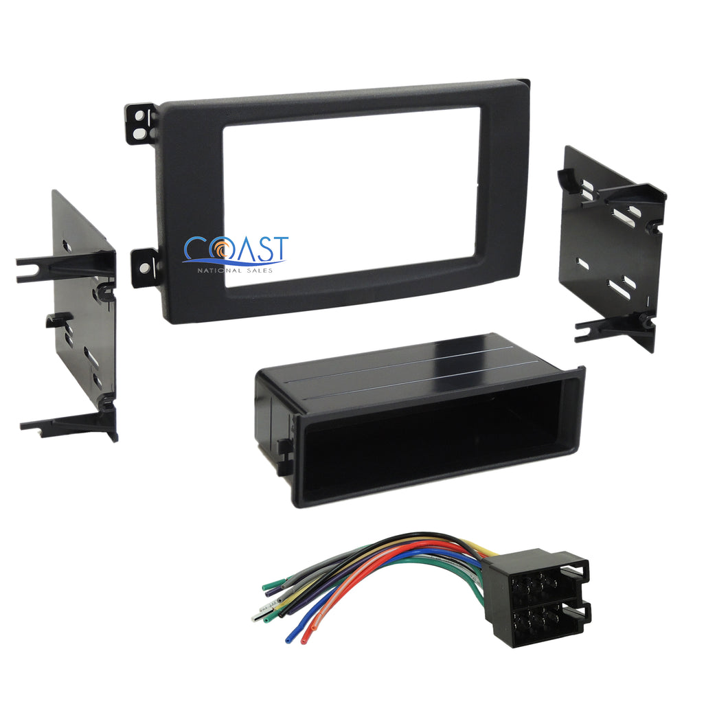 Car Radio Single Double Din Dash Kit Harness for 2008-2010 Smart For Two Fortwo
