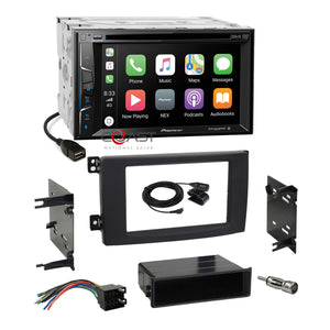 Pioneer DVD BT Sirius Carplay Stereo Dash Kit Harness for 2008-10 Smart Fortwo