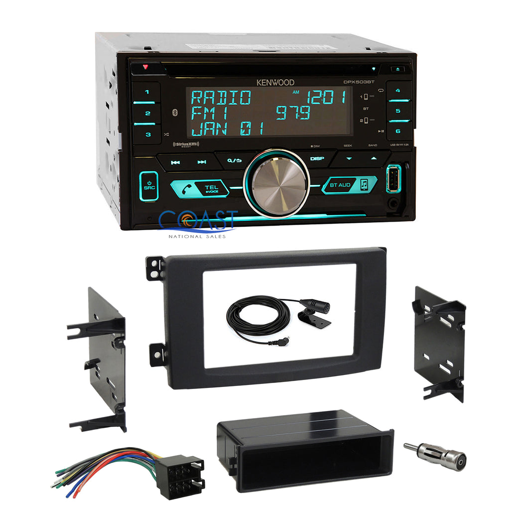 Kenwood CD USB Sirius Bluetooth Stereo Dash Kit Harness for 2008-10 Smart Fortwo