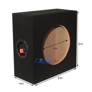 "Ground Shaker 6.5"" Single Subwoofer Enclosure w/ Speaker Cable Terminal - Black"