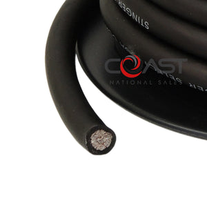 Stinger 1/0 Gauge Matte Black Power Ground Wire Car Home Audio SSVLP0BK - 25 FT