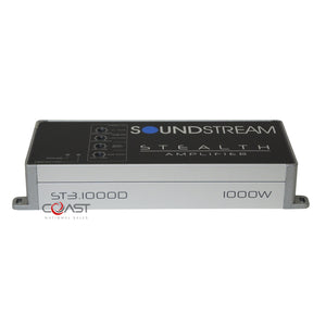 Soundstream ST3.1000D 1000W 3 Channel Stealth Series Class D Stereo Amplifier