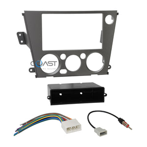 Car Radio Stereo Single 2 Din Dash Kit Harness for 05-09 Subaru Legacy Outback