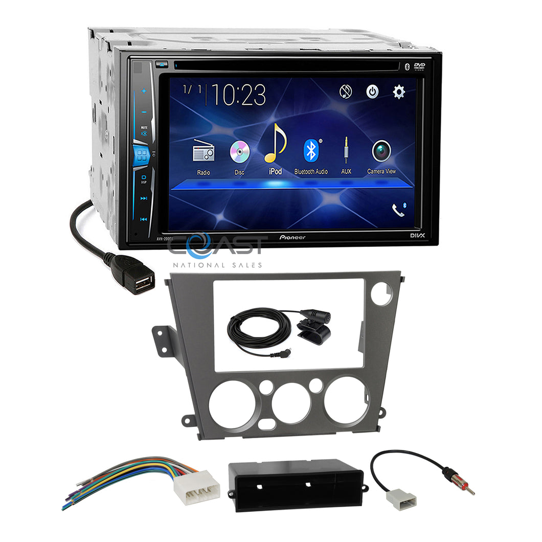 Pioneer DVD Bluetooth Stereo Dash Kit Harness for Subaru Legacy Outback 2005-09