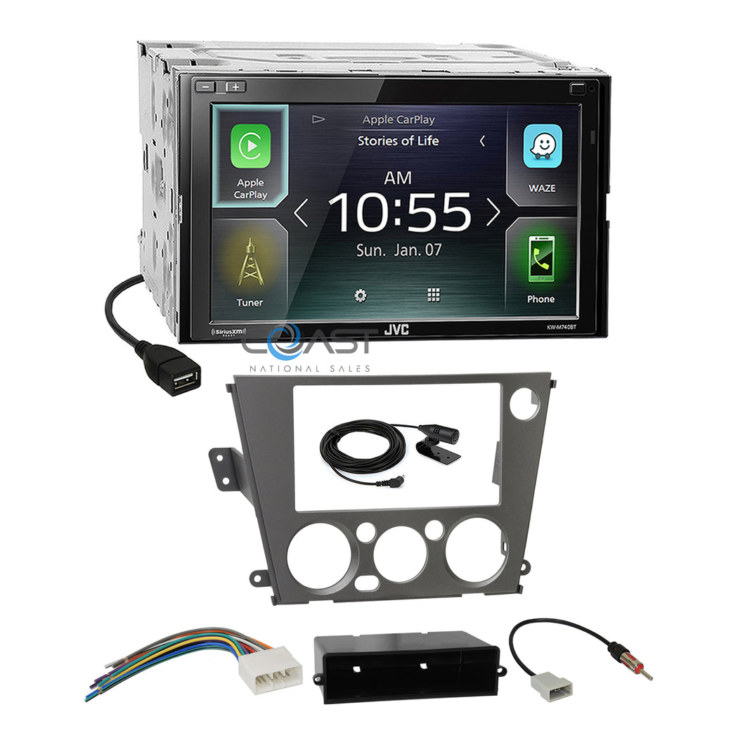 JVC USB Carplay Weblink Stereo Dash Kit Harness for Subaru Legacy Outback 05-09