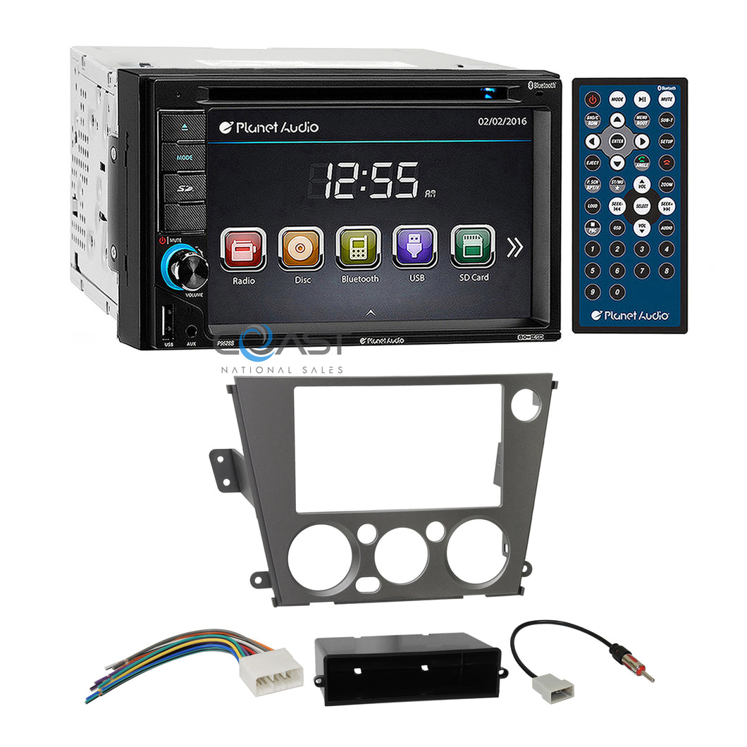 Planet Audio DVD USB Stereo Dash Kit Harness for Subaru Legacy Outback 2005-09