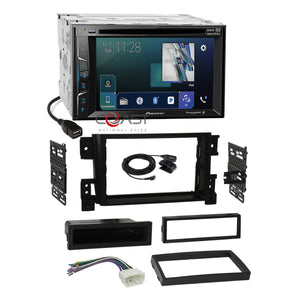 Pioneer DVD BT USB Sirius Stereo Dash Kit Harness for 06+ Suzuki Grand Vitara