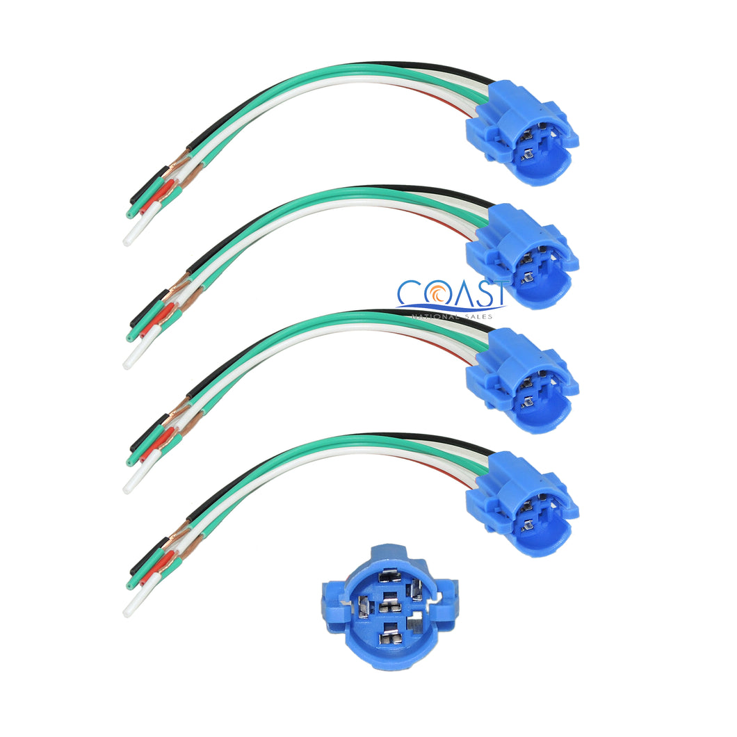 4X Durable 16mm Harness Socket Plug for On/Off Push Button & Momentary Switch