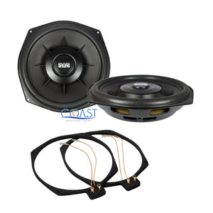 "2x Earthquake Sound SWS-8Xi Single 2 Ohm 8"" 150W Car Subwoofer w/ Ring Adapters"