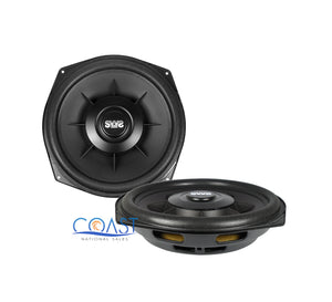 "2x Earthquake Sound SWS-8X Single 4 Ohm 8"" 150W Car Subwoofer w/ Ring Adapters"