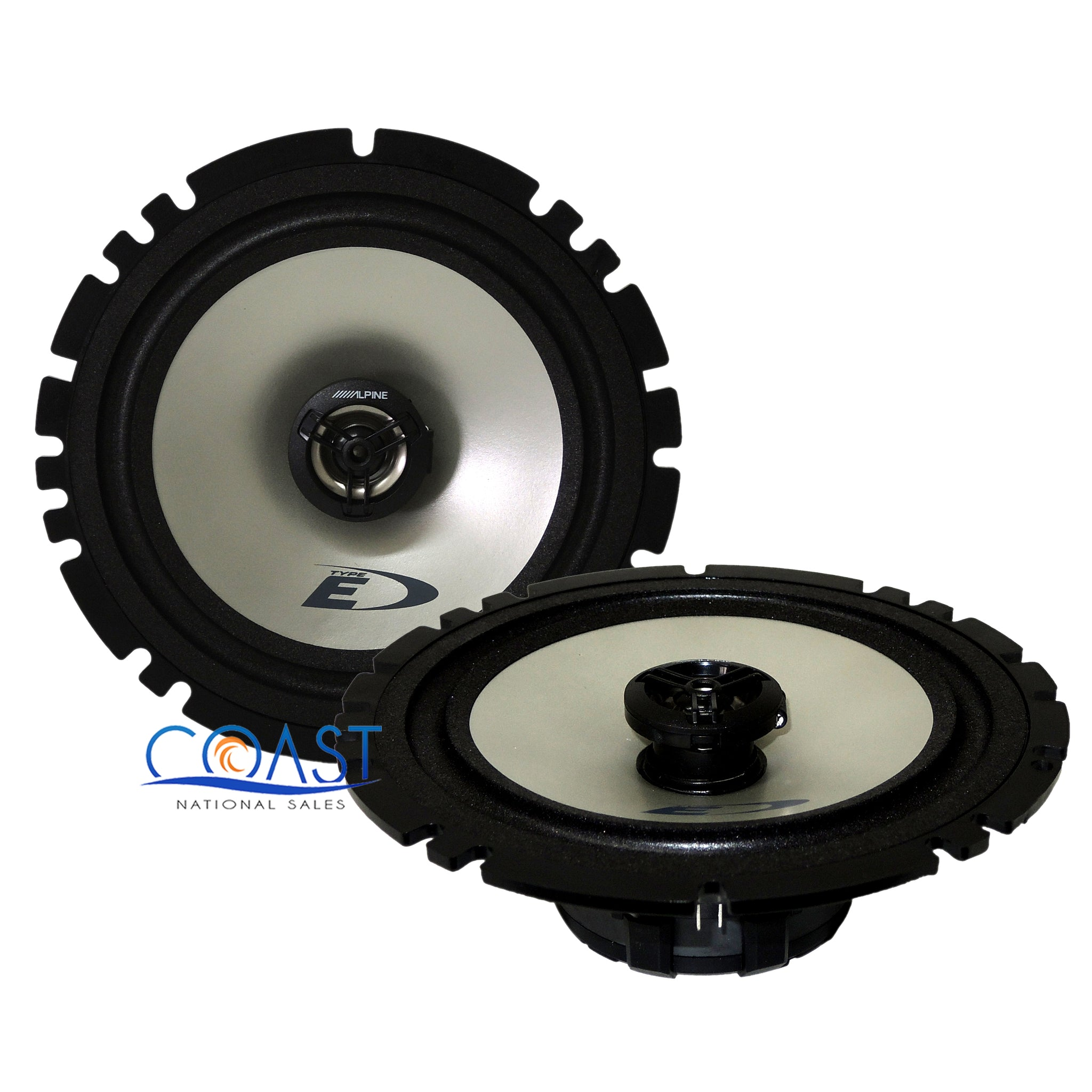 """NEW Alpine SXE-1725S 6-1//2/"""" 2-Way Type-E 220W  Coaxial 6.5/"""" Car Stereo Speakers"""