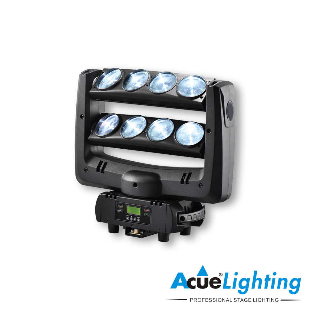 Acue Lighting Spider 2 LED RGB Lights 2 Arm Moving Heads DMX Mode For DJ Clubs