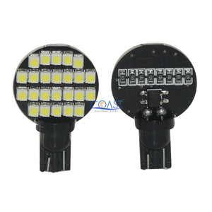 Ultra Bright 24 SMD 3528 High Power White LED Marine Light Bulb T10 T15 Pair