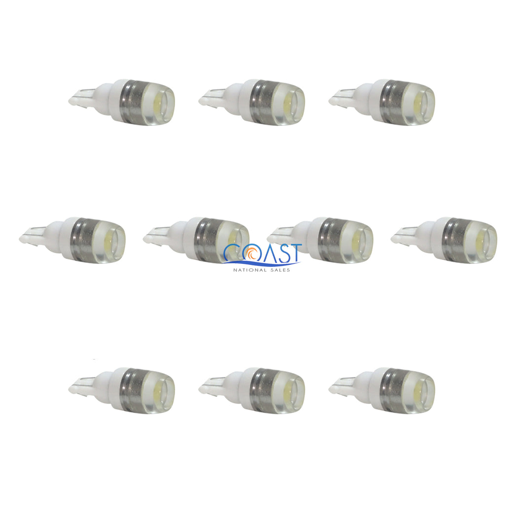Ultra Bright High Power White LED Projector Tube Light Bulbs T10 T15 - 10 pcs