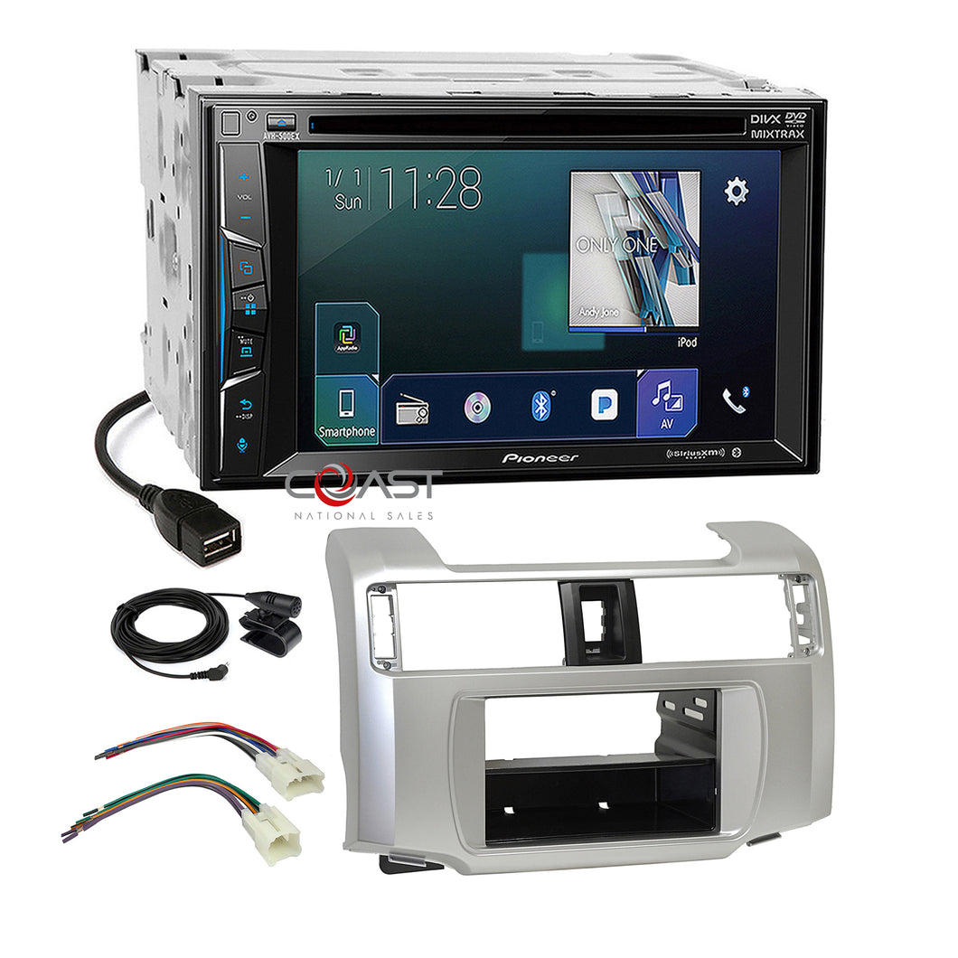 Pioneer DVD Sirius AppRadio Stereo Dash Kit Harness for 2010-13 Toyota 4Runner