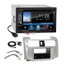 Load image into Gallery viewer, Kenwood 2018 DVD Waze Stereo 2Din Dash Kit Harness for 2010-13 Toyota 4 Runner