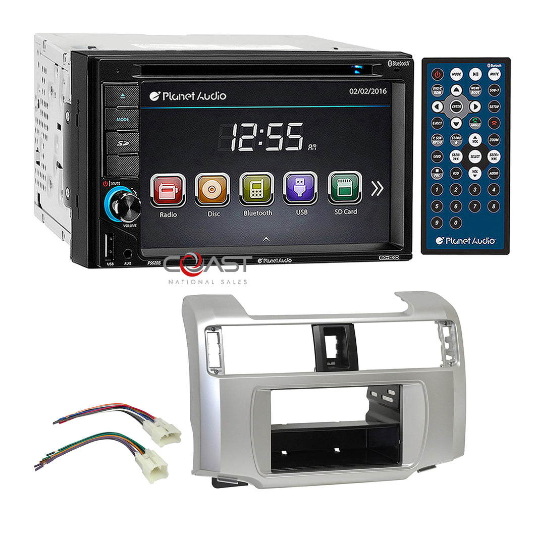 Planet Audio DVD USB Bluetooth Stereo Dash Kit Harness for 10-13 Toyota 4Runner