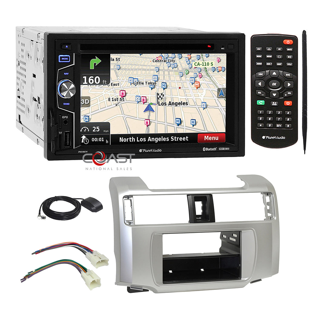 Planet Audio DVD GPS Bluetooth Stereo Dash Kit Harness for 10-13 Toyota 4Runner