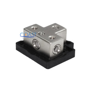 Car Platinum Distribution Block (1) 0/2 Gauge In & (3) 4/8 Gauge Out & Adapters