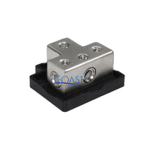 Load image into Gallery viewer, Car Platinum Distribution Block (1) 0/2 Gauge In & (3) 4/8 Gauge Out & Adapters