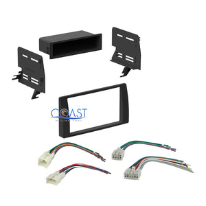 Car Stereo Single Double DIN Dash Kit Harness Combo for 2002-2006 Toyota Camry