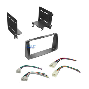 Stereo Double DIN Dash Kit + Wiring Harness Combo for 2003-2008 Toyota Corolla