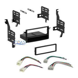 Car Single DIN Stereo Dash Kit w/ Wire Harness Combo for 2004-2011 Toyota Scion