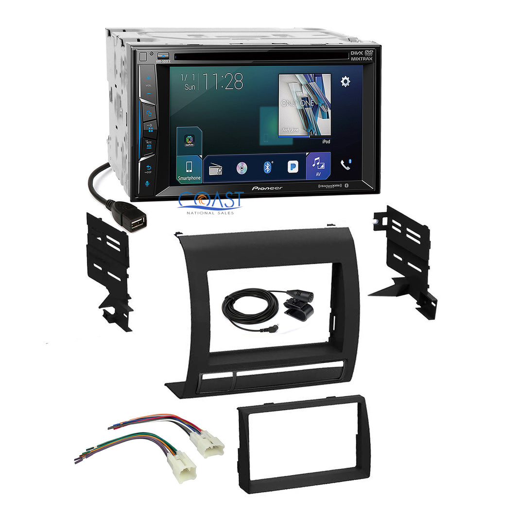 Pioneer Bluetooth Sirius AppRadio Stereo Dash Kit Harness for 05+ Toyota Tacoma