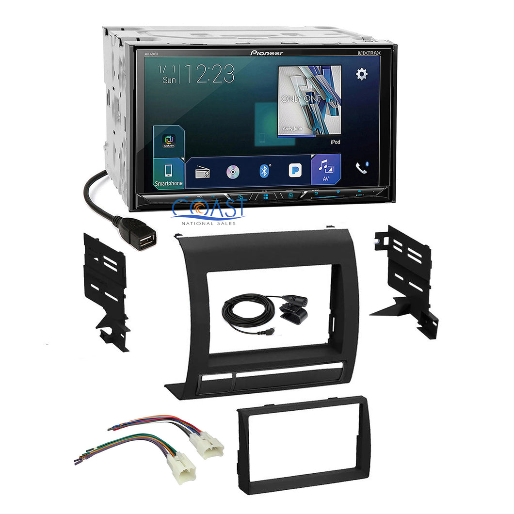 Pioneer 2018 Sirius GPS Ready Stereo Dash Kit Harness for 05-11 Toyota Tacoma