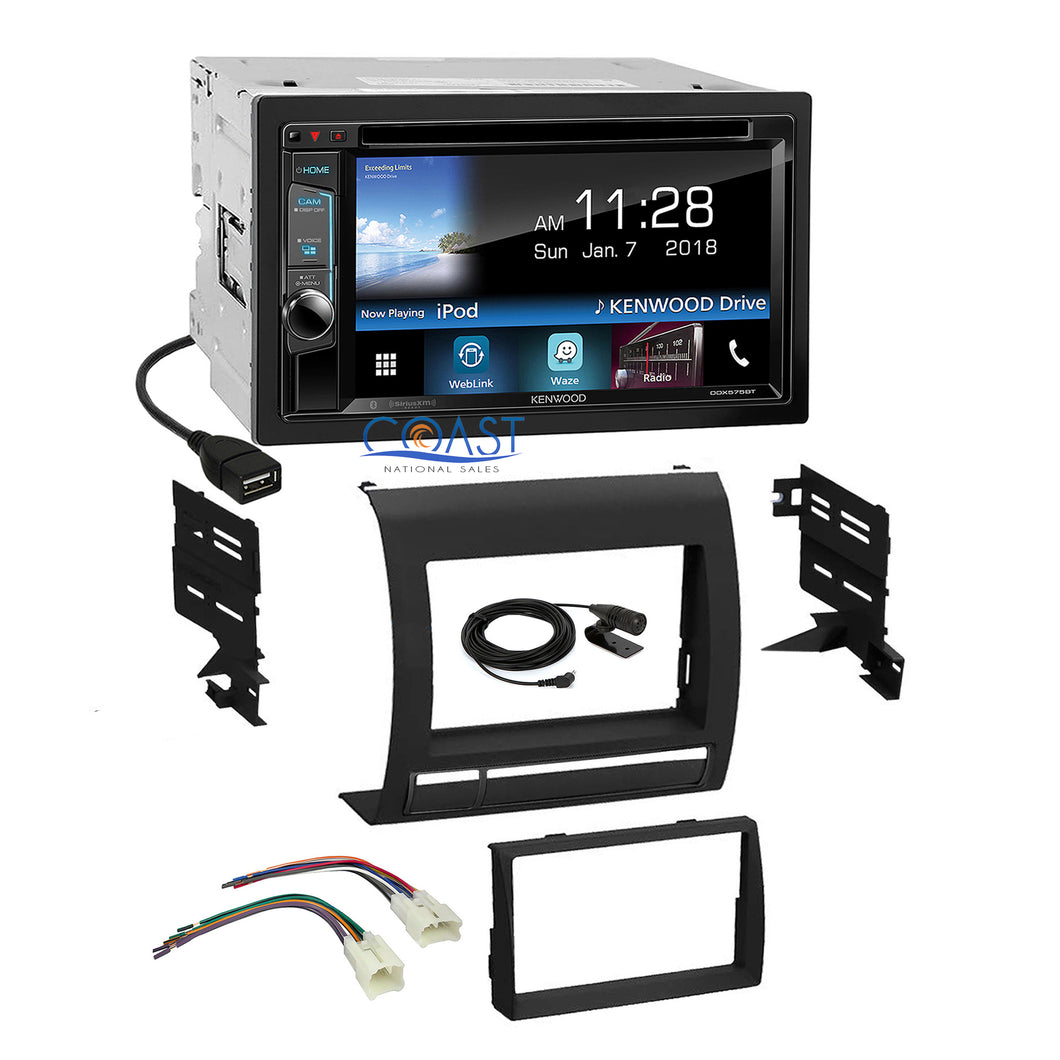 Kenwood DVD Sirius Waze Spotify Stereo Dash Kit Harness for 05+ Toyota Tacoma