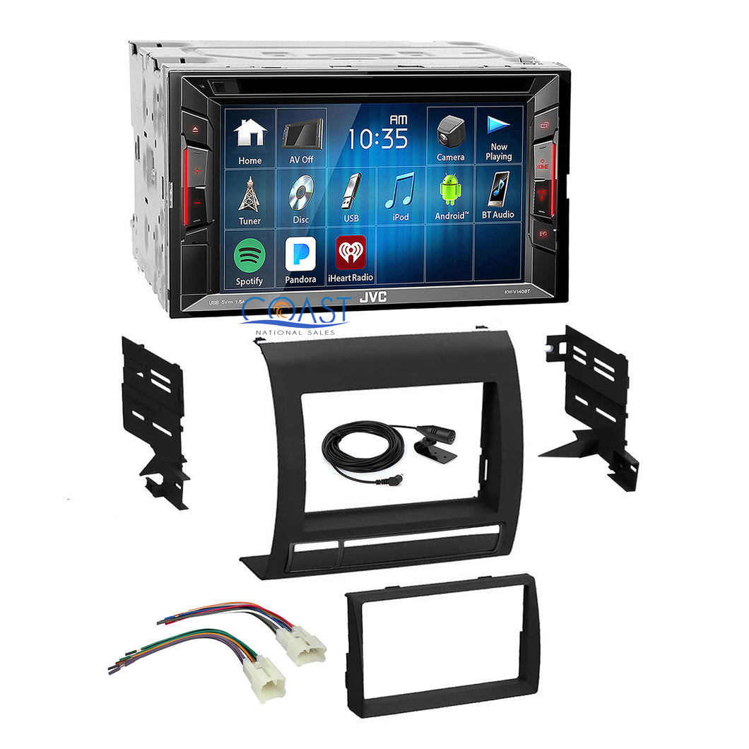 JVC DVD USB Bluetooth Stereo DDin Dash Kit Harness for 2005-2011 Toyota Tacoma