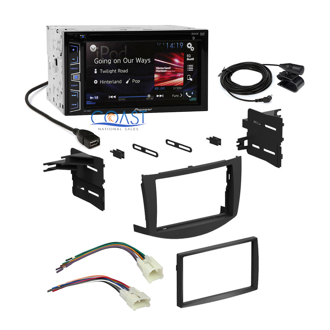 Pioneer Car Radio Double DIN Stereo Dash Kit Harness for 2006-2013 Toyota RAV4