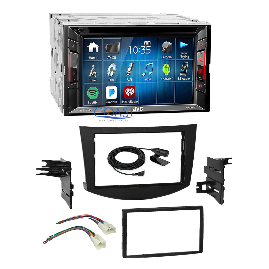 JVC 2018 DVD USB Bluetooth Stereo Dash Kit Harness for 2006-2012 Toyota RAV4
