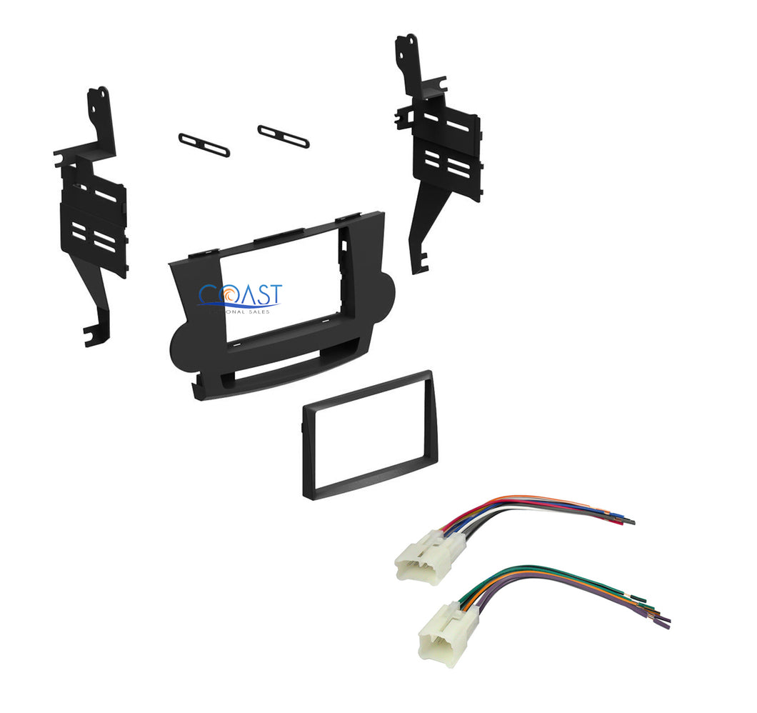 Single Double DIN Car Stereo Dash Kit Harness for Toyota Highlander 2008-2011