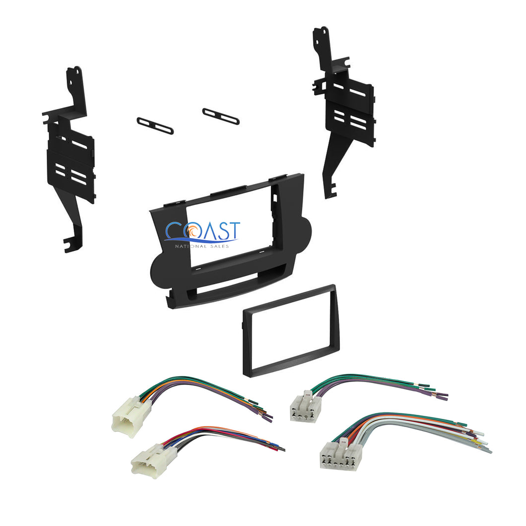 Single Double DIN Car Stereo Dash Kit Harness for 2008-2011 Toyota Highlander