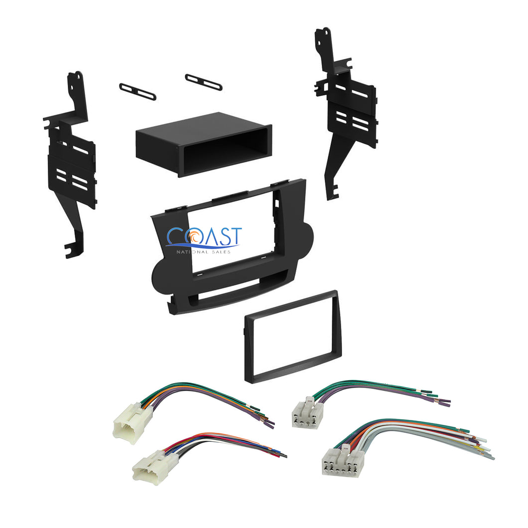 Car Stereo Single Double DIN Dash Kit Harness for 2008-2011 Toyota Highlander