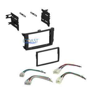 Stereo Single Double DIN Dash Kit w/ Harness Combo for 2009-2011 Toyota Corolla